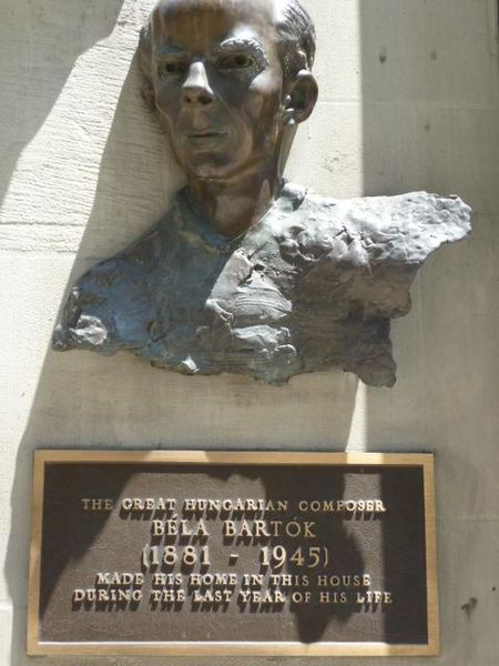 Bartok Plaque NYC