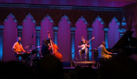 Bela Fleck and the Marcus Roberts Trio, Caramoor Jazz Festival, 8/4/12