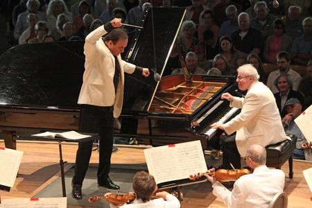 Charles Dutoit and Emanuel Ax at Tanglewood on 7.29.12 (Hilary Scott)