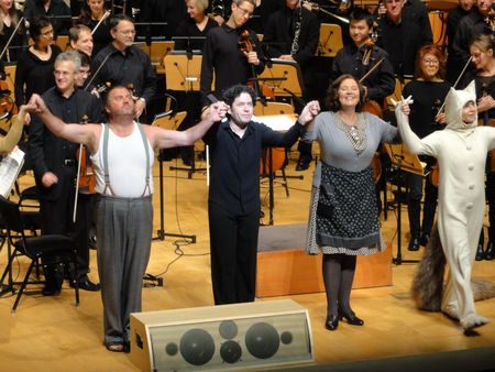 Gustavo dudamel with Where the wild things are cast