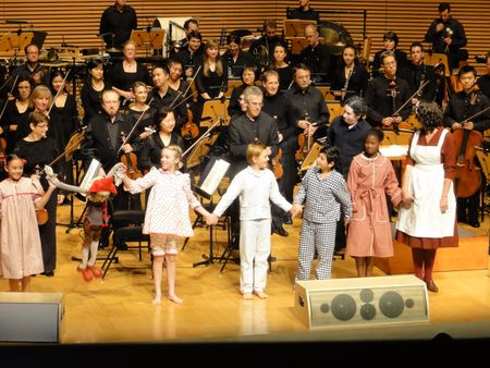 gustavo dudamel with la phil and mother goose cast