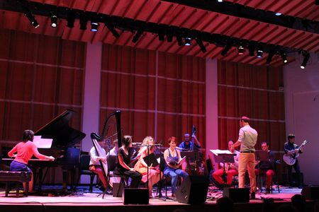 Deerhoof and Ensemble Dal Niente performing Marcos Balter's Meltdown Upshot