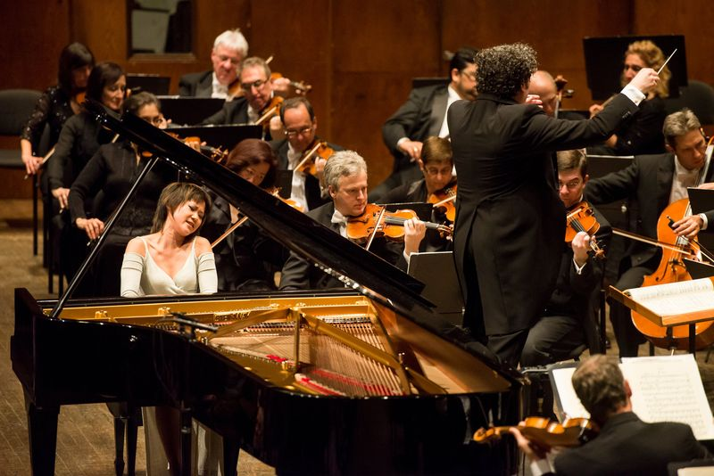 Dudamel, Yuja Wang, LA Philharmonic, Avery Fisher Hall, Ian Douglas