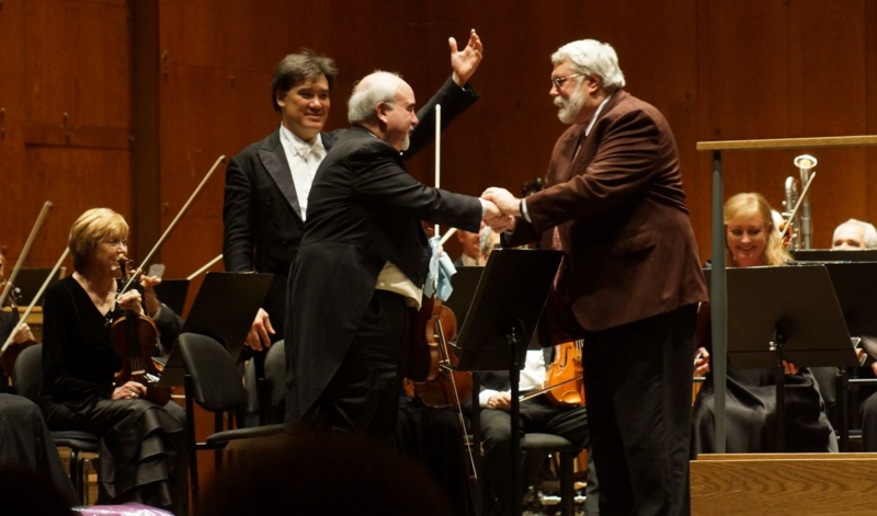 Alan Gilbert, Glenn Dicterow, Christopher Rouse, NY Philharmonic