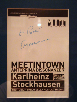Stockhausen Cosmic Pulses